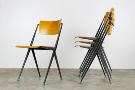 Set van 4 ''Pyramid chairs'' by Wim Rietveld for Ahrend de cirkel 1963