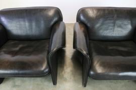 Zeer zeldame set De sede '''DS 125'' fauteuils ontworpen door Gerd Lange 1978
