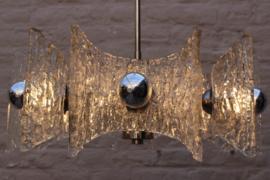 Ice glass chandelier Designed By: Kaiser Leuchten Germany