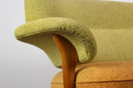 Zeldzame Artifort Set: F109 gentleman chair & bank Designed By: Theo Ruth