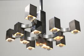 ''Cubic'' Chandelier Designed By: Gaetano Sciolari