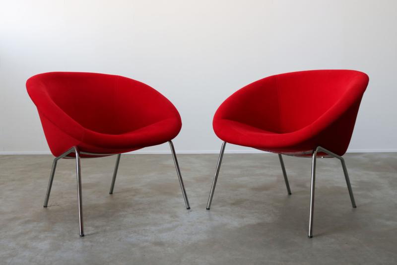 Set vintage design fauteuils Walter Knoll 1950s