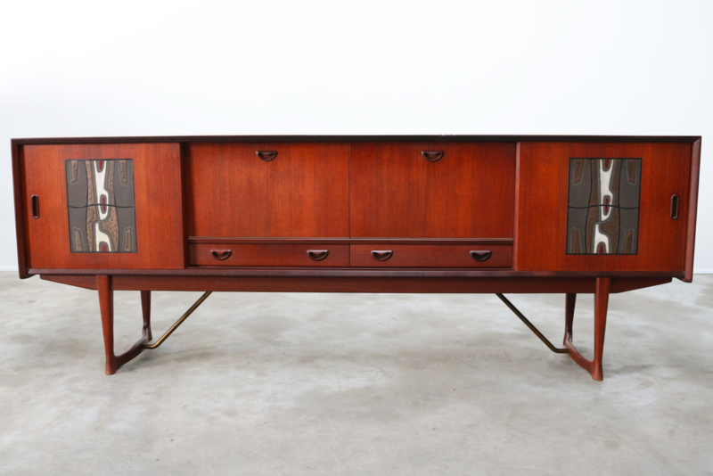 Vintage design dressoir Louis van Teeffelen voor Webe 1950s