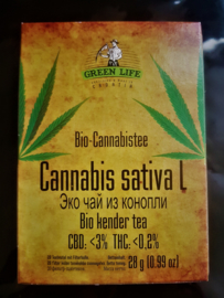 Greenlife 3% CBD Bio-Cannabis tea, 20 bags