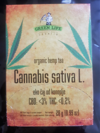 Greenlife 3% CBD Bio-Cannabis thee 20 zakjes