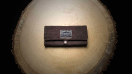 Original Kavatza Roll Pouch Brown Suede Leather, Large (Brownie)