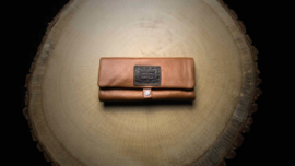 Original Kavatza Roll Pouch Brown Leather, Large (Tabba)