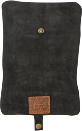 Original Kavatza Roll Pouch Black Suede Manouso, Large (Manouso)