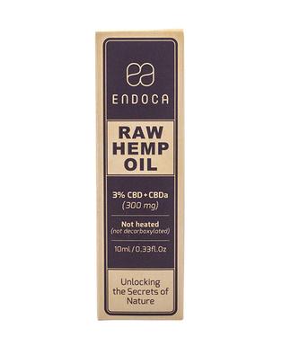 CBD Olie Raw (Endoca) 3% CBD 300mg 10ml