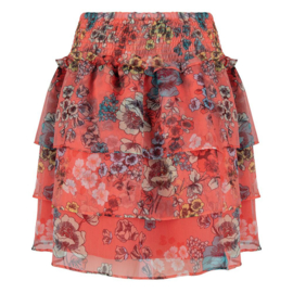 Jacky Luxury Skirt Ruffle Flower Print