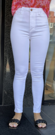 Queen Hearts Jeans White 877-B