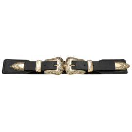Riem Double Cowboy Buckle Gold