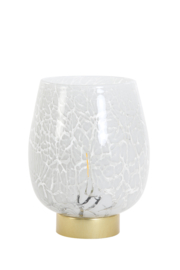 Glazen Tafellamp Wit (Groot)