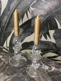 Kandelaar - wit glas