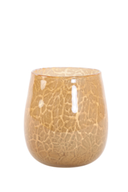 Glazen Waxinelichthouder Amberkleurig