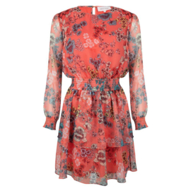 Jacky Luxury Flower Print Ruffle Dress
