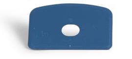 Deegschraper recht met gat - blauw (20 stuks)