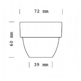 cupping kom 110ml/ 210ml / 260ml in overdoos 6 stuks