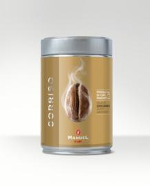 Manuel Caffe JETSET-lijn 250 gram in stijlvol en hersluitbaar blik