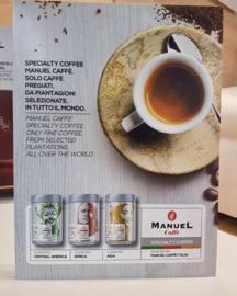 Manuel Caffe Single Estate bonen Exclusieve serie 'beperkt verkrijgbaar' blik 125 gram