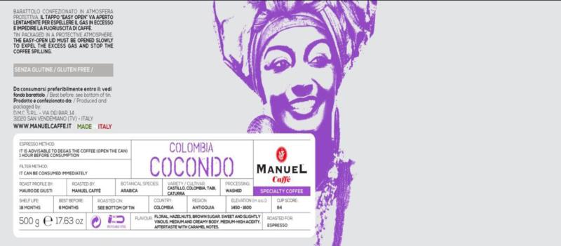 Single origin specialty Cocondo Colombia, regio Antioquia 500 gram blik bonen