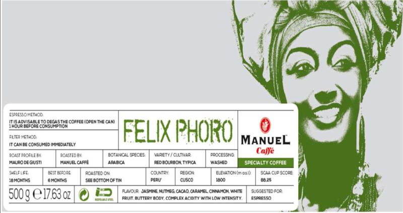 Single origin specialty Felix Phoro Peru, regio Cusco 500 gram blik bonen