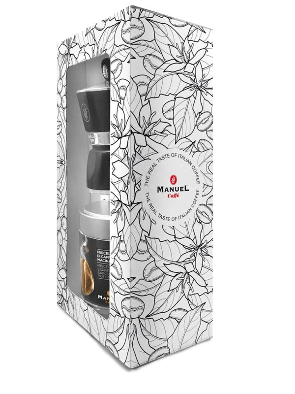 cadeauverpakking mokkakoffie + mokka-apparaat