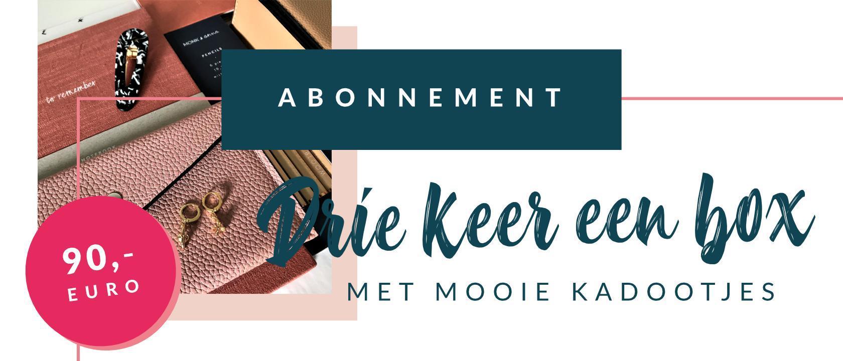 KP2019 ABONNEMENT - DRIE KEER EEN BOX