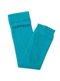 Hoppediz beenwarmertjes bio-katoen, effen turquoise