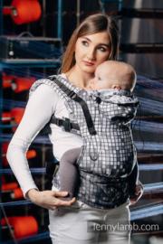 LennyLamb ergonomische drager Mosaic Monochrome, baby maat