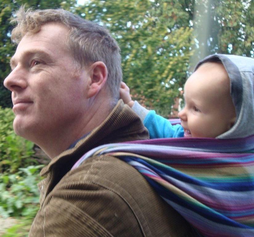 Hans met Adelle in de Storchenwiege Inka