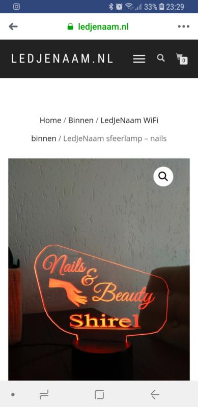 Blog;  Leuke led display voor je nagelsalon