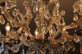 Brocante kristallen kroonluchter