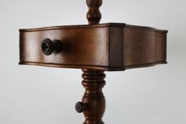 Antieke  mahonie staande scheerspiegel