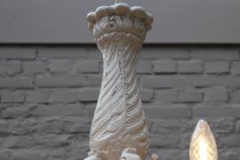 Brocante houten kroonluchter gerestyled nr. 4