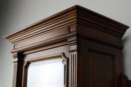 Antiek brocante (hang ) vitrine kast