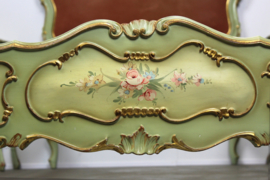 Complete handbeschilderde Italiaanse brocante barok eenpersoons slaapkamer