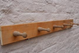 Antiek brocante houten kapstok 2h