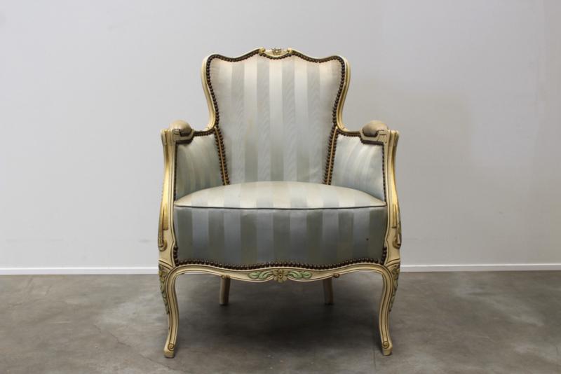 Brocante sierlijke fauteuil  Queen Ann