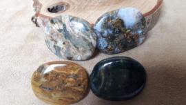 Jaspis oceaan platte steen