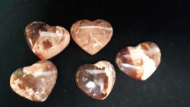 Opaal bruin zwart hart