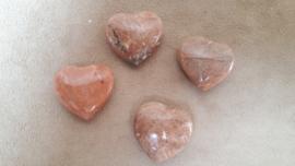 Maansteen perzik hart