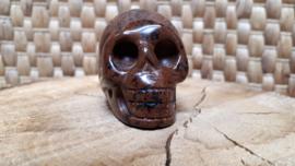 Obsidiaan mahonie human skull