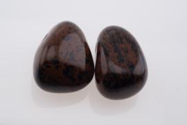 Obsidiaan mahonie doorboorde hanger