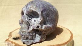 Sfaleriet met fluoriet human skull