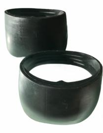 Rubber quarter boots zwart. Maat L.