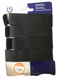 Zwarte bandagesluitingen van Imperial Riding.