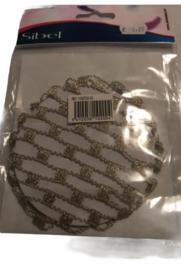 Knotnetje van Sibel goud/zilver. XL.