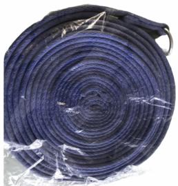 Longeerlijn soft 8 meter (grijs/blauw).