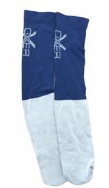Marineblauw/ grijze sokken maat 40-46. Set van 3 paar.